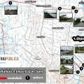 แผนที่การลงพื้นที่สำรวจแนวคันกั้นน้ำ จ.ปทุมธานี ฝั่งตะวันตก
