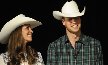 ที่มาภาพ: http://www.guardian.co.uk/world/2011/jul/08/rodeo-royals-kate-william-calgary