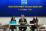 ธนาคารพัฒนาเอเชีย (เอดีบี) รายงานวิเคราะห์สถานการณ์และแนวโน้มทางเศรษฐกิจเอเชีย ปี พ.ศ. 2555 ฉบับล่าสุด เมื่อวันที่ 3 ตุลาคม 2555 ที่สำนักงานเอดีบี ประเทศไทย