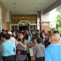 สมาชิกสหกรณ์เครดิตยูเนี่ยนคลองจั่นมาเบิกเงิน ปิดบัญชี เปิดบัญชีใหม่ เมื่อวันที่ 18 เมษายน 2556