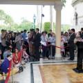 พล.อ.ประยุทธ์ จันทร์โอชา นายกรัฐมนตรี แถลงภายหลังการประชุมคณะรัฐมนตรี (ครม.) เมื่อวันที่ 1 ตุลาคม 2557  ที่มาภาพ : http://www.thaigov.go.th/