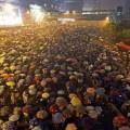 """""""ปฏิวัติรม"""" ในฮ่องกง ที่มาภาพ: http://mashable.com/2014/09/30/hong-kong-protests-updates/"""