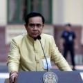 พล.อ. ประยุทธ์ จันทร์โอชา นายกรัฐมนตรีและหัวหน้าคณะรักษาความสงบแห่งชาติ (คสช.) แถลงข่าวการประชุมครม.วันที่ 9 ธันวาคม 2557  ที่มาภาพ : http://www.thaigov.go.th/th/media-centre/091214_tro.html