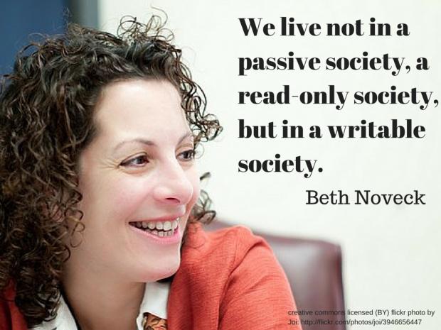 Beth Noveck อดีตผู้อำนวยการโครงการ Open Government Initiative คนแรกของรัฐบาลอเมริกัน