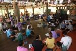 การประชุมรับฟังความคิดเห็นโครงการกำหนดแนวทางการฟื้นฟูลำห้วยคลิตี้จากการปนเปื้อนสารตะกั่ว ณ หมู่บ้านคลิตี้ล่างเมื่อวันที่ 25 เมษายน 2558