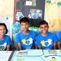 เด็กนักเรียนในโครงการโรงเรียนเครือข่ายซัมซุง ห้องเรียนแห่งอนาคต โรงเรียนชุมชนบ้านผานกเค้า