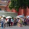 นักท่องเที่ยวชาวจีน บริเวณหน้าพระบรมมหาราชวัง