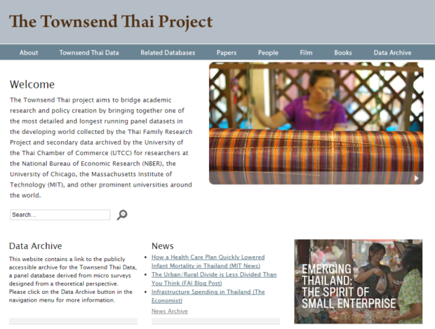 เว็บไซต์ Townsend Thai Project http://cier.uchicago.edu/